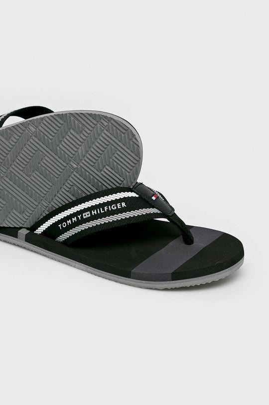 Tommy Hilfiger - Flip-flop Striped Beach  Szár: textil, természetes bőr Belseje: szintetikus anyag, textil Talp: szintetikus anyag