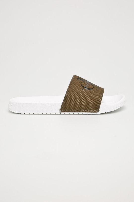 olivová Calvin Klein Jeans - Pantofle Pánský