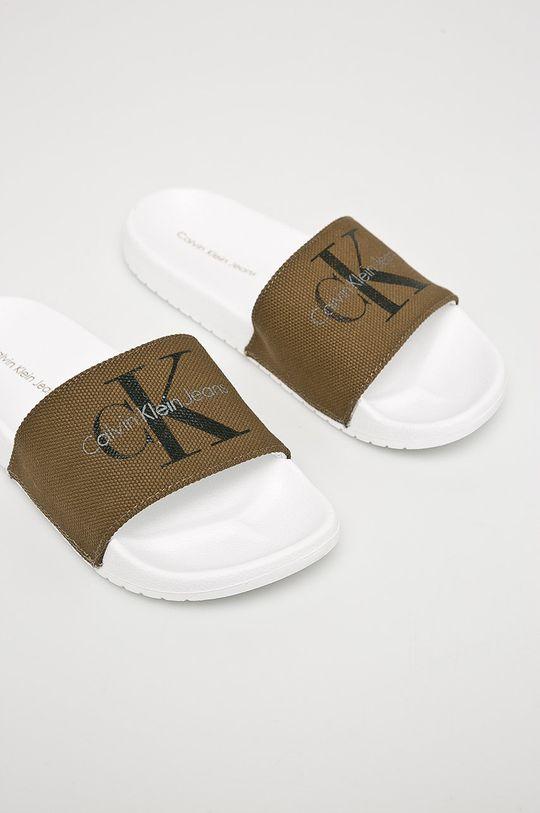 Calvin Klein Jeans - Pantofle olivová
