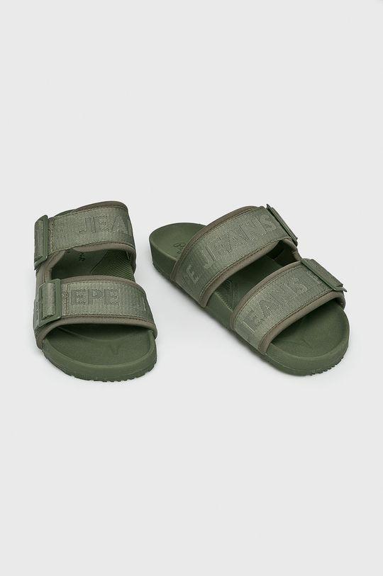 Pepe Jeans - Pantofle okrová