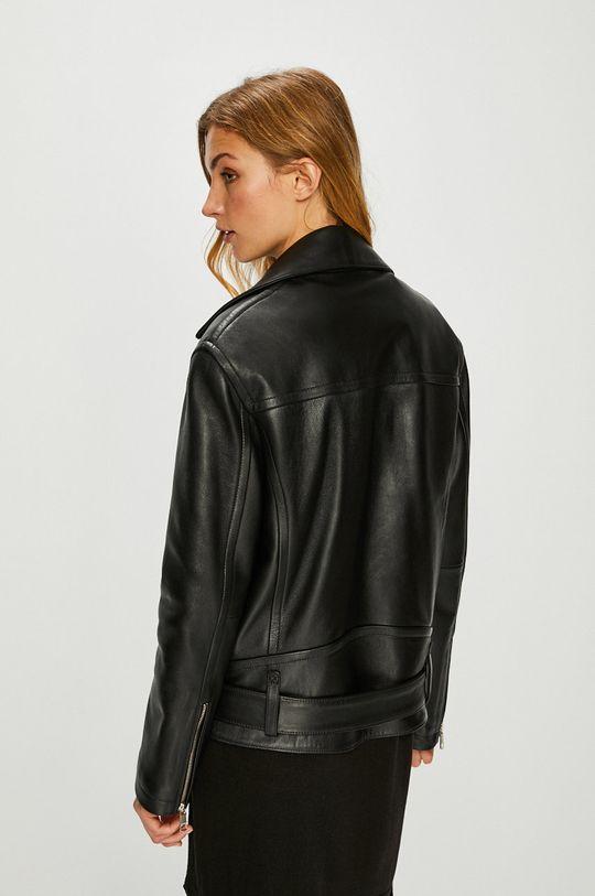Tommy Hilfiger - Kožená bunda <p>Podšívka: 52% Polyester, 48% Viskóza Základná látka: 100% Prírodná koža</p>