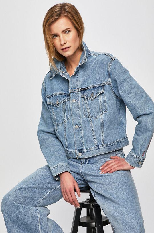 modrá Calvin Klein Jeans - Bunda Dámský