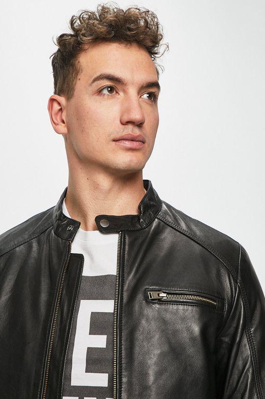 černá Selected - Kožená bunda