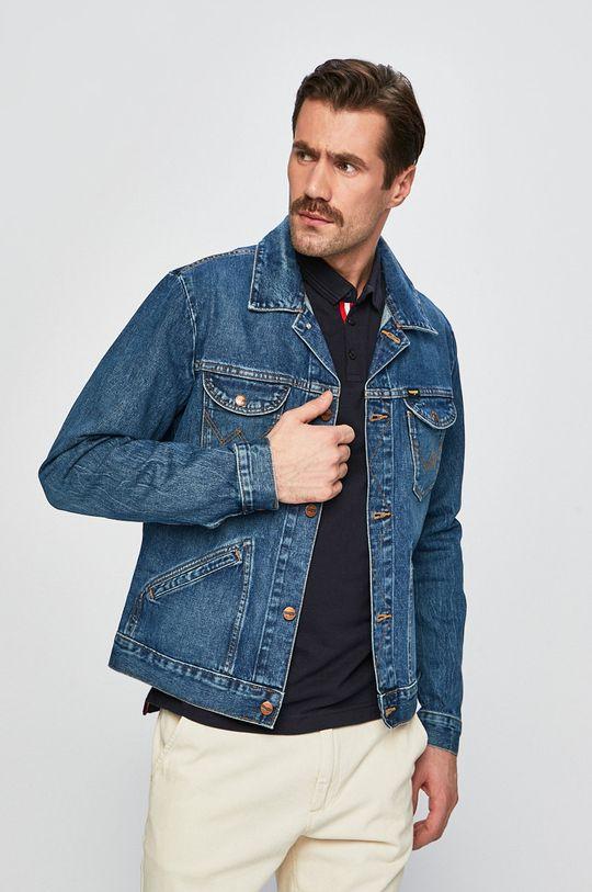 modrá Wrangler - Riflová bunda Pánsky