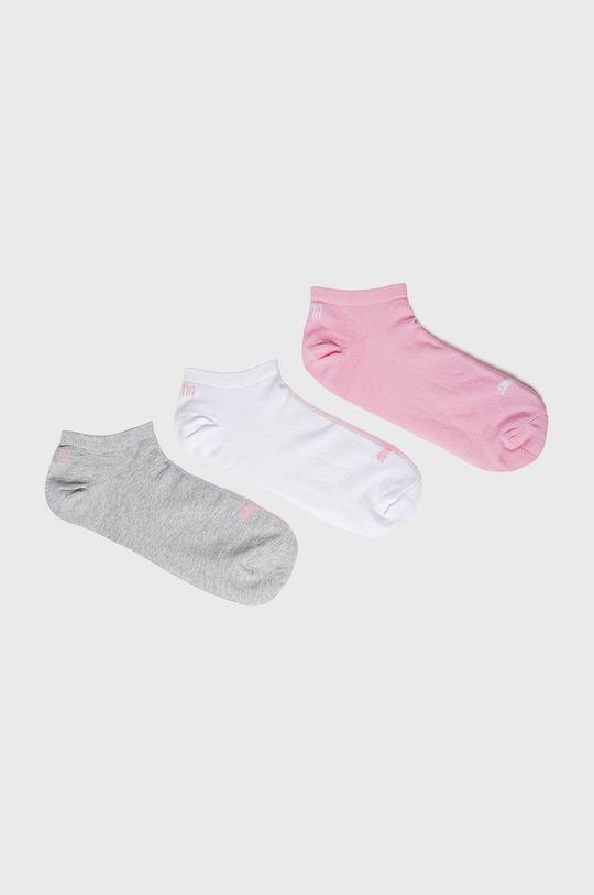 růžová Puma - Ponožky (3-pack) Dámský