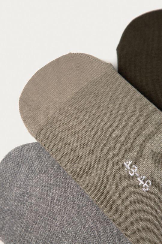 Puma - Ponožky (3-pak) hnedozelená