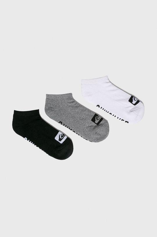 šedá Quiksilver - Ponožky (3-pack) Pánský