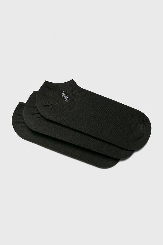 čierna Polo Ralph Lauren - Ponožky (3-pak) Pánsky