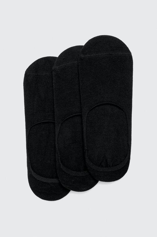 negru John Frank - Sosete scurte (3 pack) De bărbați
