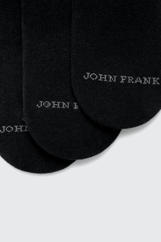 John Frank - Sosete scurte (3 pack) negru