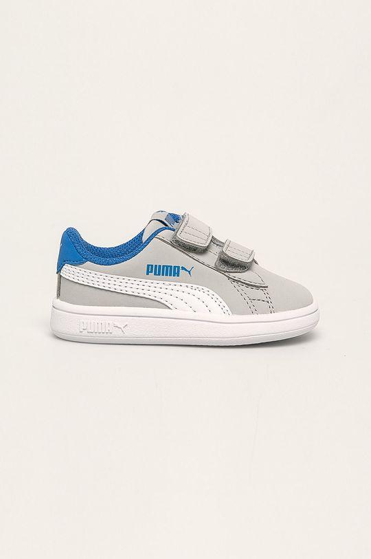 gri deschis Puma - Pantofi copii Smash v2 Buck V De băieți