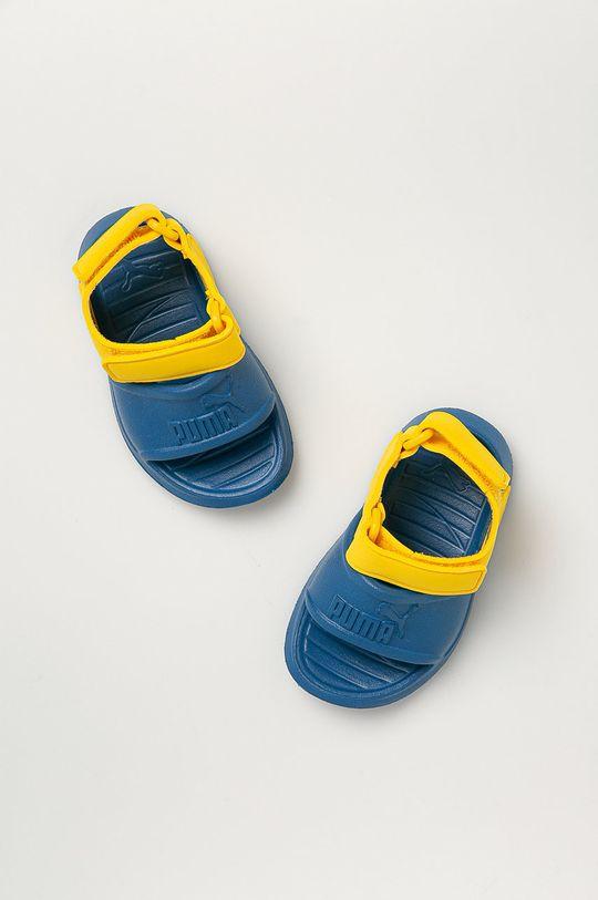 modrá Puma - Dětské sandály Divecat v2 Injex