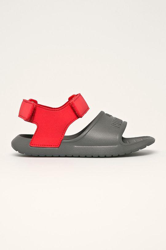 sivá Puma - Detské sandále Divecat v2 Injex Chlapčenský