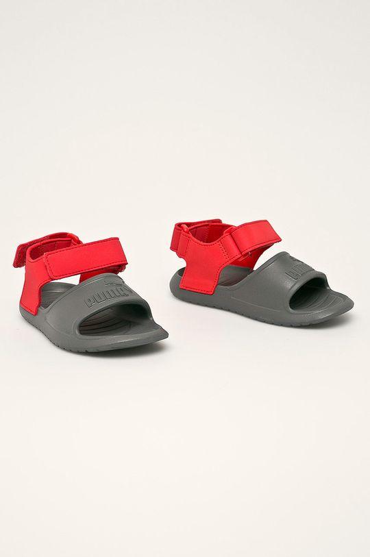 Puma - Detské sandále Divecat v2 Injex sivá