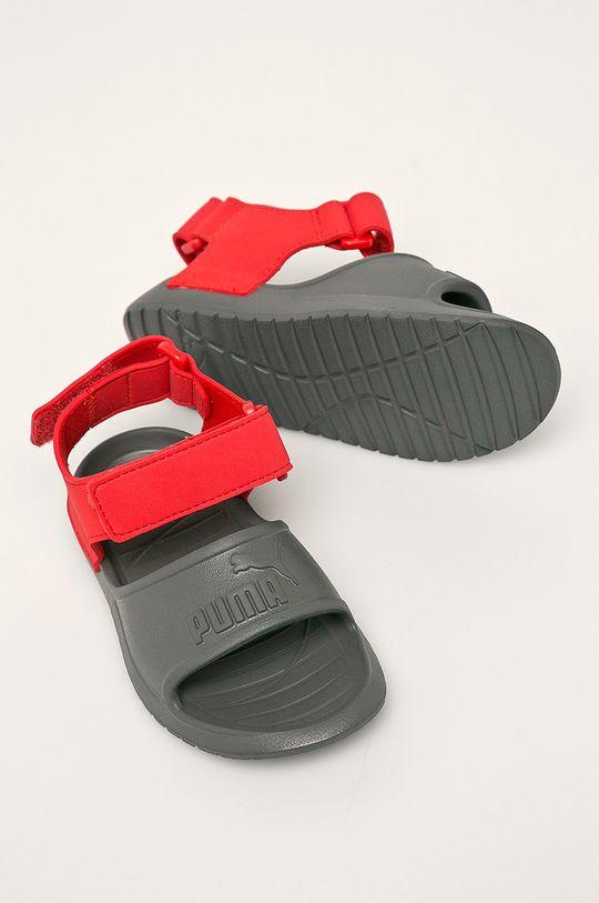 sivá Puma - Detské sandále Divecat v2 Injex