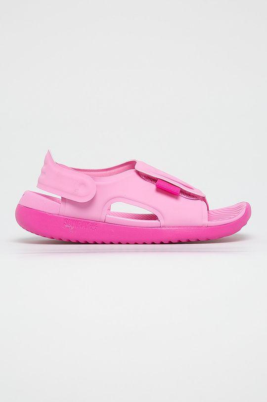 růžová Nike Kids - Dětské sandály Sunray Adjust 5 Chlapecký