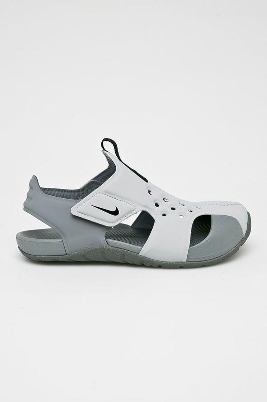 šedá Nike Kids - Dětské sandály Sunray Protect 2 Chlapecký
