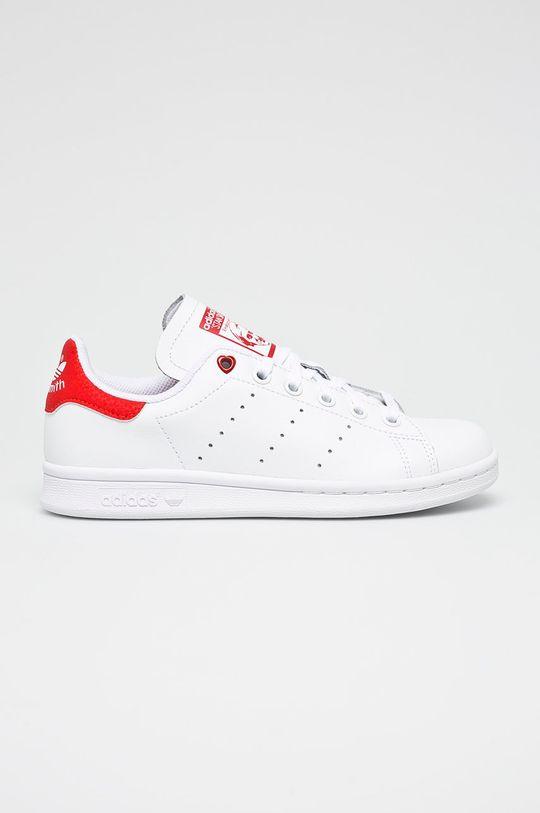 biela adidas Originals - Detské topánky Stan Smith J Chlapčenský