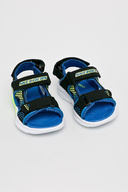 Skechers - Dětské sandály černá