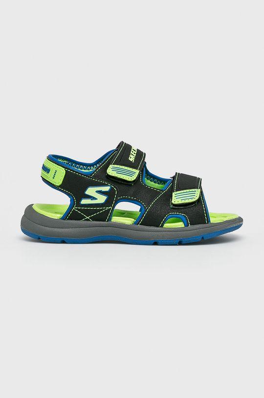 czarny Skechers - Sandały dziecięce Chłopięcy