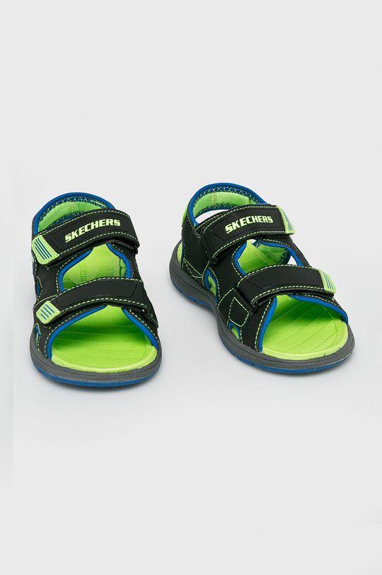 Skechers - Sandały dziecięce czarny