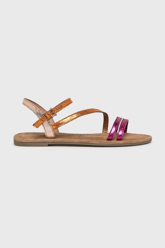 purpurový Tamaris - Sandále Dámsky