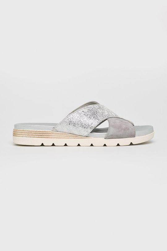 argintiu Caprice - Papuci De femei