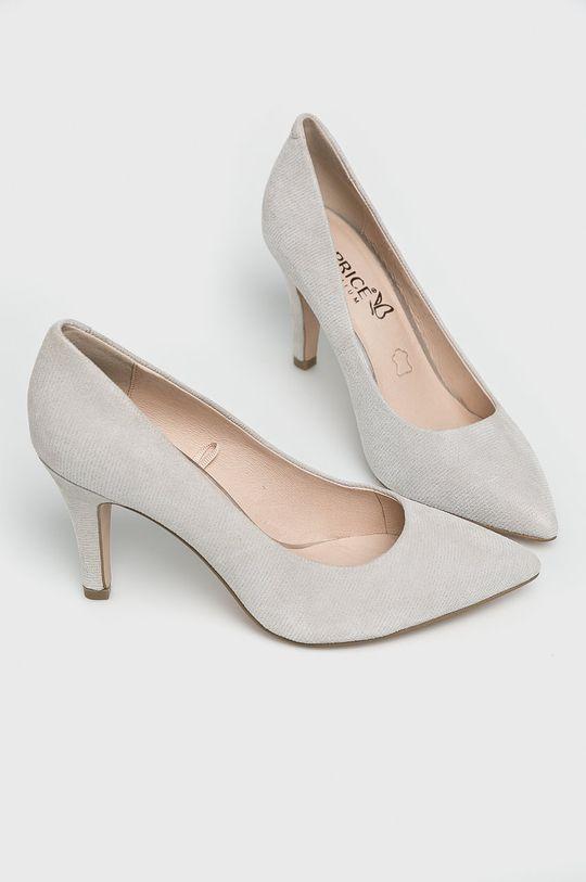 Caprice - Pantofi cu toc gri