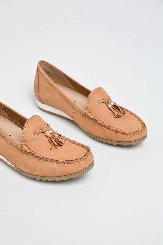 Caprice - Pantof maro auriu