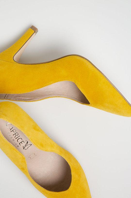 Caprice - Pantofi cu toc galben
