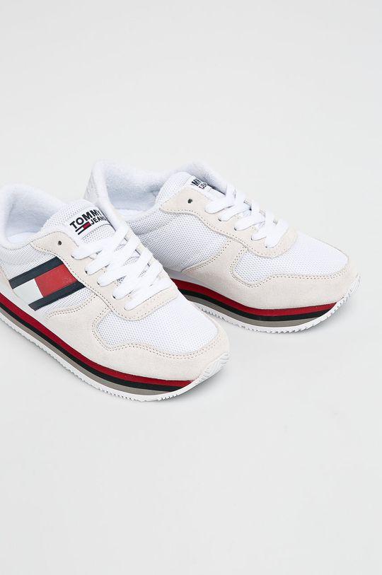 Tommy Jeans - Cipő Retro Tommy Jeans Sneaker fehér