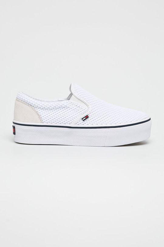 fehér Tommy Jeans - Sportcipő Slipon Textile City Sneaker Női