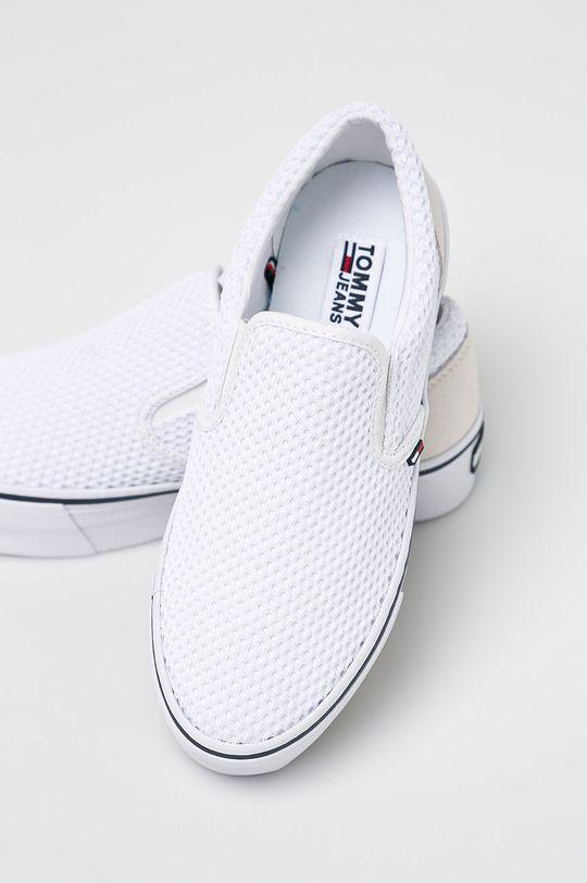 Tommy Jeans - Sportcipő Slipon Textile City Sneaker fehér