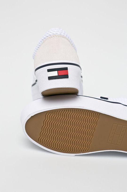 fehér Tommy Jeans - Sportcipő Slipon Textile City Sneaker