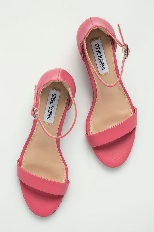 růžová Steve Madden - Kožené sandály Irenee