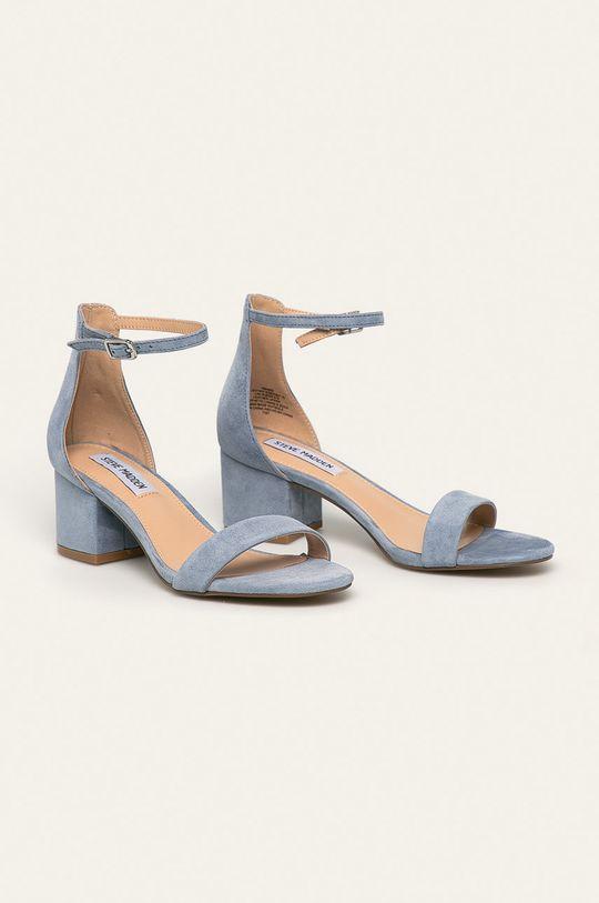 Steve Madden - Kožené sandále Irenee svetlomodrá