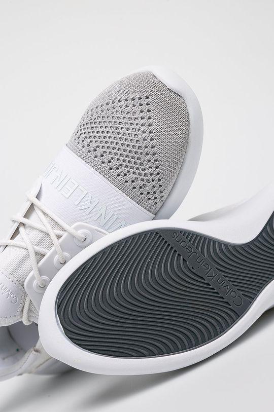 Calvin Klein Jeans - Boty Merykl Knit Ckj Logo smetanová