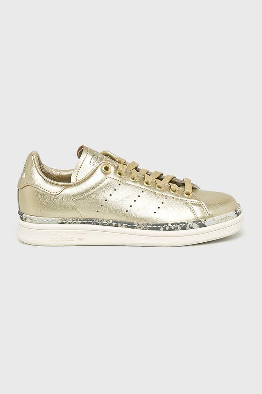 zlatá adidas Originals - Topánky Stan Smith New Bold W Dámsky