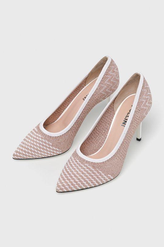 Pollini - Pantofi cu toc roz violet