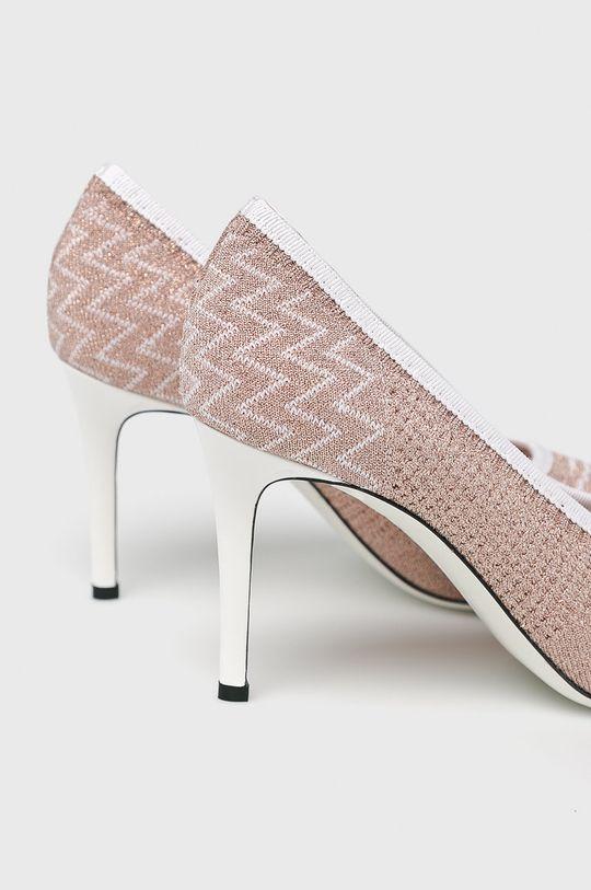 Pollini - Pantofi cu toc Gamba: Material textil Interiorul: Material textil Talpa: Material sintetic Introduceti: Piele