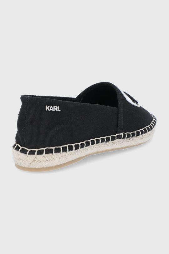 Karl Lagerfeld - Espadryle Karl Ikonic Slip On Cholewka: Materiał tekstylny, Skóra naturalna, Wnętrze: Materiał tekstylny, Podeszwa: Materiał syntetyczny, Wkładka: Skóra naturalna