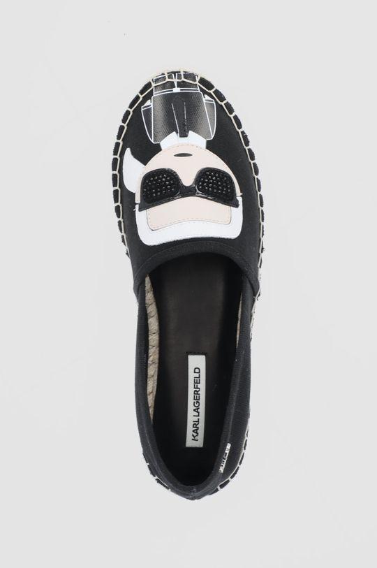 czarny Karl Lagerfeld - Espadryle Karl Ikonic Slip On