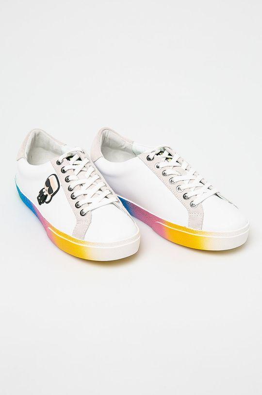 Karl Lagerfeld - Cipő Skool II Kalifornia Ikon Lce fehér