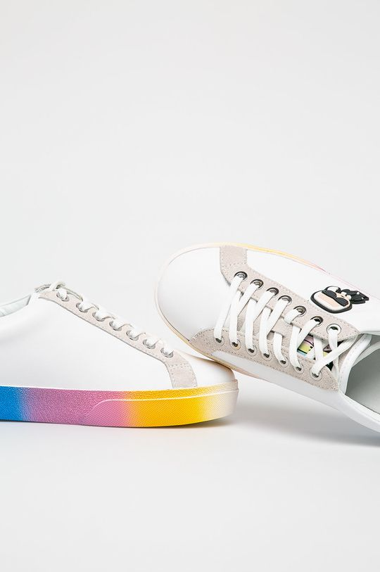 fehér Karl Lagerfeld - Cipő Skool II Kalifornia Ikon Lce