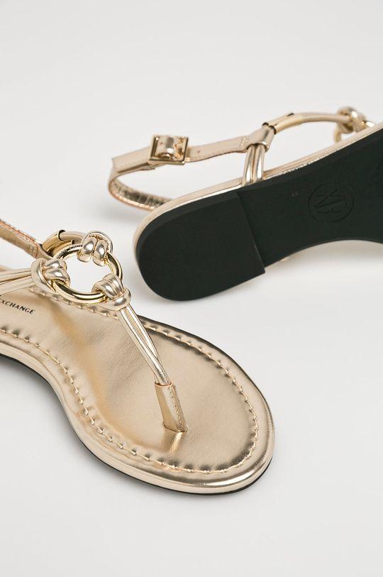 zlatá Armani Exchange - Sandále