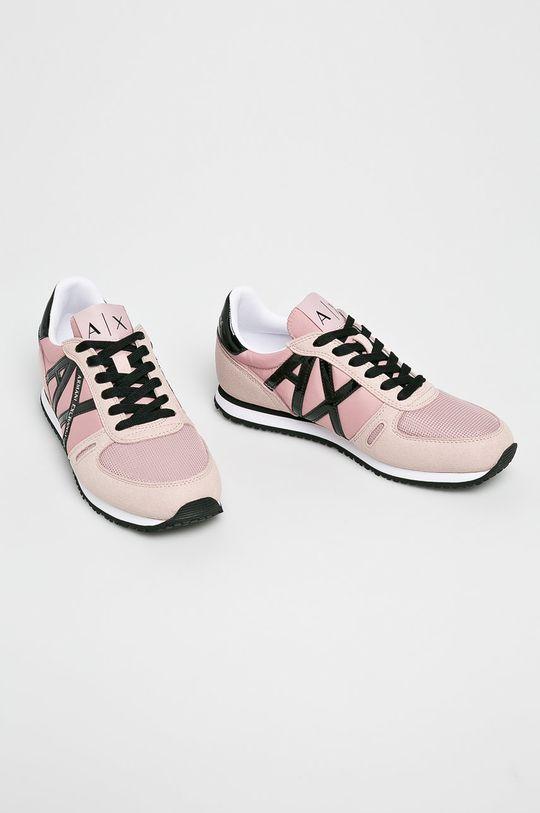 Armani Exchange - Topánky ružová