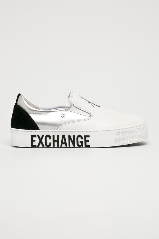 biela Armani Exchange - Topánky Dámsky