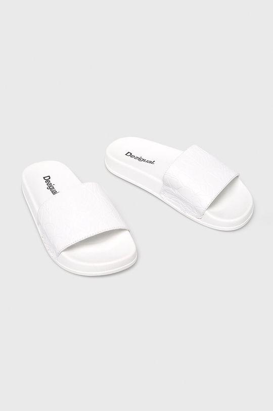 Desigual Sport - Papuci alb