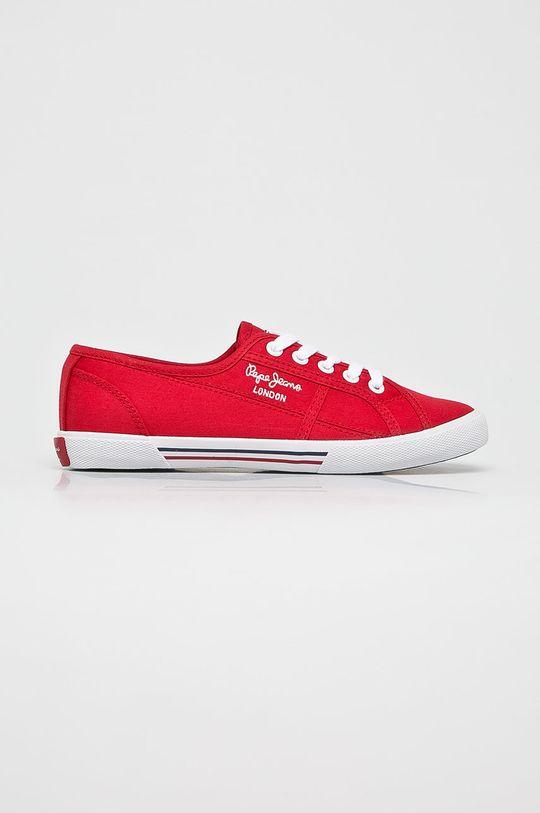 kármin vörös Pepe Jeans - Sportcipő Aberlady Női