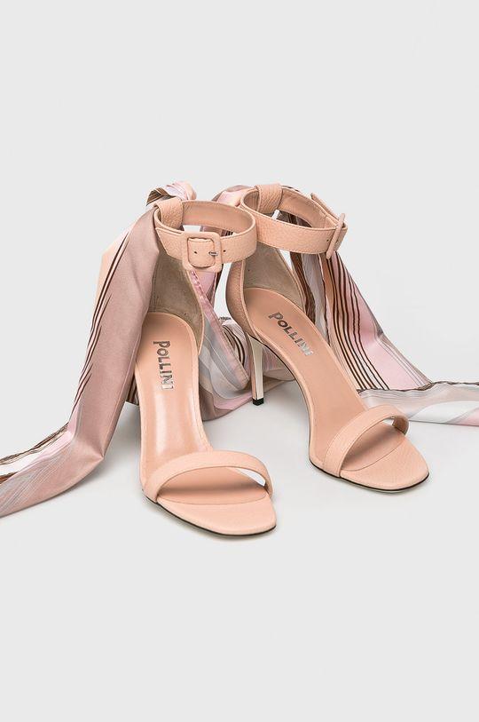 Pollini - Sandály pastelově růžová